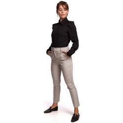 tekstylia Damskie Koszule Be B165 Puff sleeve shirt - black