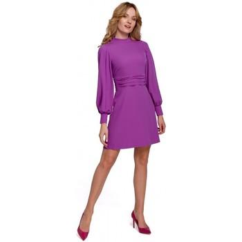 tekstylia Damskie Sukienki krótkie Makover K077 Dress with flamenco frill - lavender
