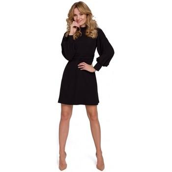 tekstylia Damskie Sukienki krótkie Makover K077 Dress with flamenco frill - black