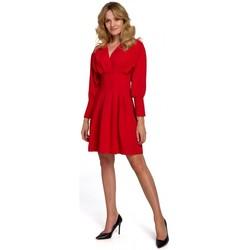 tekstylia Damskie Sukienki krótkie Makover K087 Sukienka z rękawem kimono - czerwona