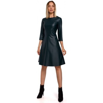 tekstylia Damskie Sukienki krótkie Moe M542 Sukienka z dzianiny turtleneck - ceglasta czerwień