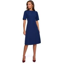 tekstylia Damskie Sukienki krótkie Style S240 Wrap front dress - powder