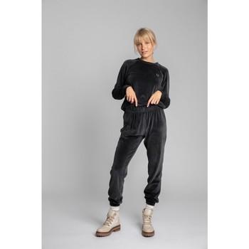 tekstylia Damskie Spodnie dresowe Lalupa LA012 Velvet Joggers - grafitowy
