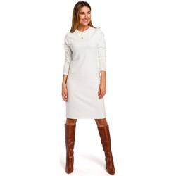 tekstylia Damskie Sukienki krótkie Style S178 Long sleeve sweater dress - ecru