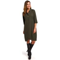 tekstylia Damskie Sukienki krótkie Style S189 Sukienka z marynarką - khaki