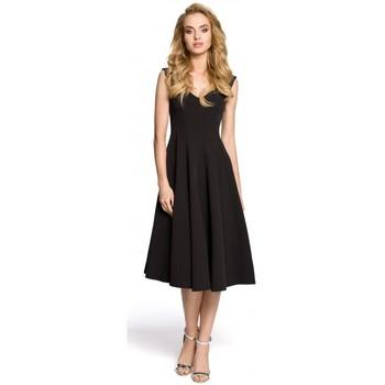 tekstylia Damskie Sukienki krótkie Moe M201 Koktajlowa sukienka bez rękawów - czarna