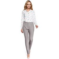 tekstylia Damskie Chinos Moe M303 Straight leg trousers - grey
