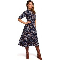tekstylia Damskie Sukienki Style S177 Floral print midi dress - model 2