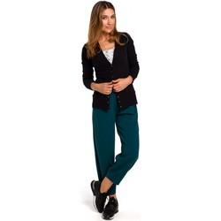 tekstylia Damskie Swetry rozpinane / Kardigany Style S198 Kardigan z zatrzaskami - czarny