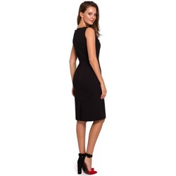 tekstylia Damskie Sukienki Makover K004 Pencil dress with a v-neck - black