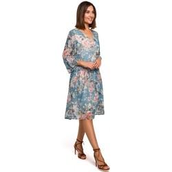 tekstylia Damskie Sukienki krótkie Style S214 Chiffon dress with drop waist - model 4