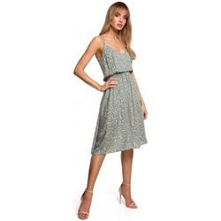 tekstylia Damskie Sukienki krótkie Moe M518 Sukienka a-line z paskiem spaghetti - model 7