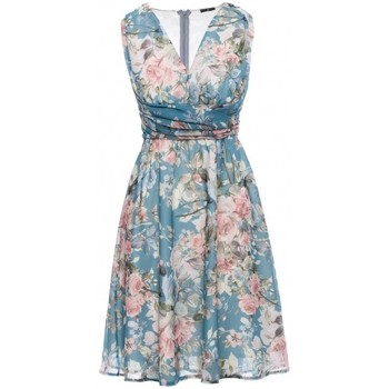 tekstylia Damskie Sukienki krótkie Style S225 Plunge-neck chiffon dress - model 4