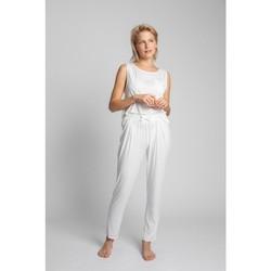 tekstylia Damskie Piżama / koszula nocna Lalupa LA025 Piżama Bottoms z wiskozy - ecru