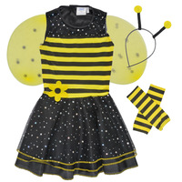 tekstylia Dziewczynka Kostiumy Fun Costumes COSTUME ENFANT BEE BEE Wielokolorowy