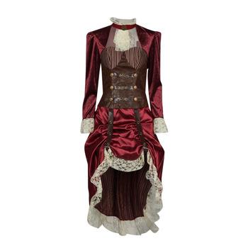 tekstylia Damskie Kostiumy Fun Costumes COSTUME ADULTE LADY STEAMPUNK Wielokolorowy
