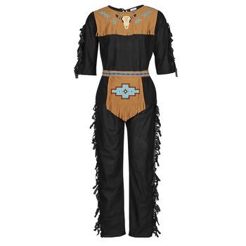 tekstylia Męskie Kostiumy Fun Costumes COSTUME ADULTE INDIEN NOBLE WOLF Wielokolorowy
