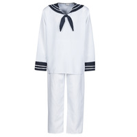 tekstylia Męskie Kostiumy Fun Costumes COSTUME ADULTE MARIN BLANC Biały