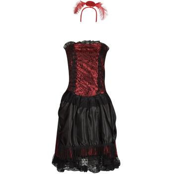 tekstylia Damskie Kostiumy Fun Costumes COSTUME ADULTE SALOON GIRL Wielokolorowy