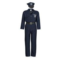 tekstylia Męskie Kostiumy Fun Costumes COSTUME ADULTE OFFICIER DE POLICE Wielokolorowy