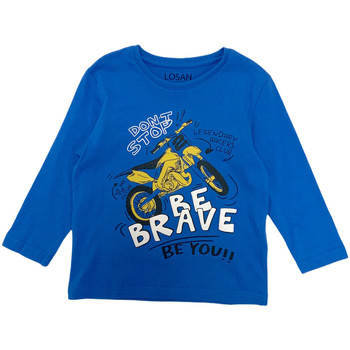 tekstylia Chłopiec T-shirty z długim rękawem Losan 025-1201AL Niebieski