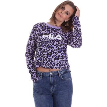 tekstylia Damskie T-shirty z długim rękawem Fila 687972 Fioletowy