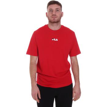 tekstylia Męskie T-shirty z krótkim rękawem Fila 687990 Czerwony