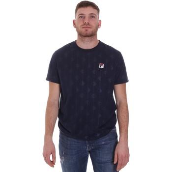 tekstylia Męskie T-shirty z krótkim rękawem Fila 687884 Niebieski