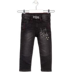 tekstylia Dziecko Jeansy straight leg Losan 025-6029AL Czarny