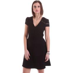 tekstylia Damskie Sukienki krótkie Dixie A529M068 Czarny