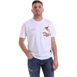 tekstylia Męskie T-shirty z krótkim rękawem Disclaimer 21EDS50512 Biały