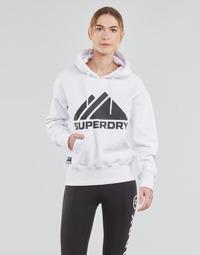 tekstylia Damskie Bluzy Superdry MOUNTAIN SPORT MONO HOOD Biały