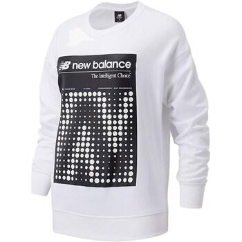 tekstylia Damskie Bluzy New Balance WT03524 'Biały