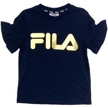 tekstylia Dziewczynka T-shirty z krótkim rękawem Fila 688038 Niebieski