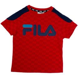 tekstylia Dziecko T-shirty z krótkim rękawem Fila 688077 Czerwony