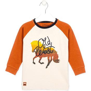 tekstylia Dziecko T-shirty i Koszulki polo Losan 025-1018AL Biały
