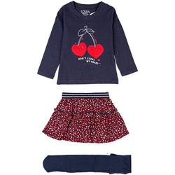 tekstylia Dziewczynka Komplet Losan 026-8023AL Niebieski