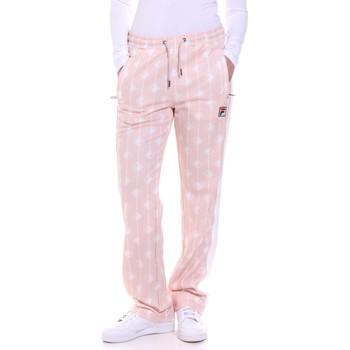tekstylia Damskie Spodnie Fila 687863 Różowy