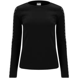 tekstylia Damskie T-shirty z długim rękawem Freddy F0WSDT6 Czarny