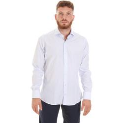 tekstylia Męskie Koszule z długim rękawem Les Copains 20P.922 P3196SL Biały