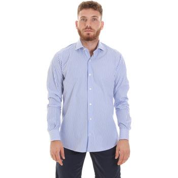 tekstylia Męskie Koszule z długim rękawem Les Copains 20P.623 P3196SL Niebieski