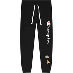 tekstylia Damskie Spodnie Champion 216870 Czarny