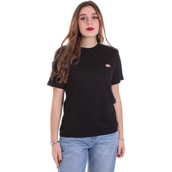 tekstylia Damskie T-shirty z krótkim rękawem Dickies DK0A4TMYBLK1 Czarny