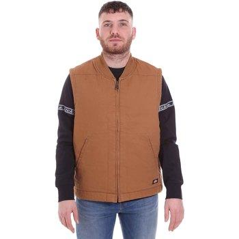 tekstylia Męskie Swetry rozpinane / Kardigany Dickies DK0A4X8UBD01 Brązowy