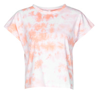 tekstylia Damskie T-shirty z krótkim rękawem Yurban ONILA Biały / Różowy