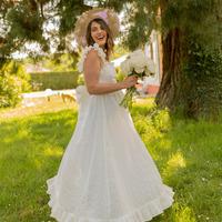 tekstylia Damskie Sukienki długie Céleste AURORE Biały