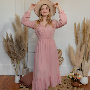 tekstylia Damskie Sukienki długie Céleste COLOMBE Różowy