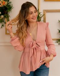 tekstylia Damskie Topy / Bluzki Céleste ROSSIGNOL Różowy