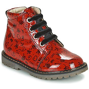 Buty Dziewczynka Trampki wysokie GBB NAREA Czerwony