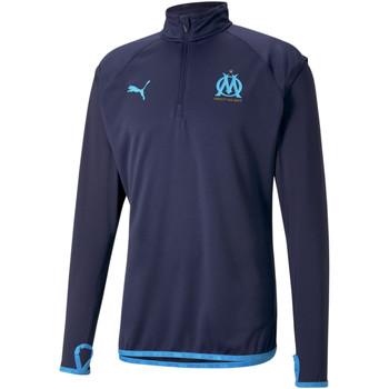 tekstylia Męskie Bluzy dresowe Puma Sweat OM Warmup bleu foncé/bleu azur